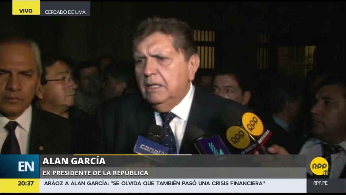 García declaró después de una misa en honor a la memoria de Víctor Raúl Haya de la Torre.
