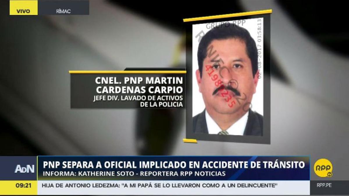 Martín Cárdenas Carpio intentó darse a la fuga dejando abandonadas a las víctimas.