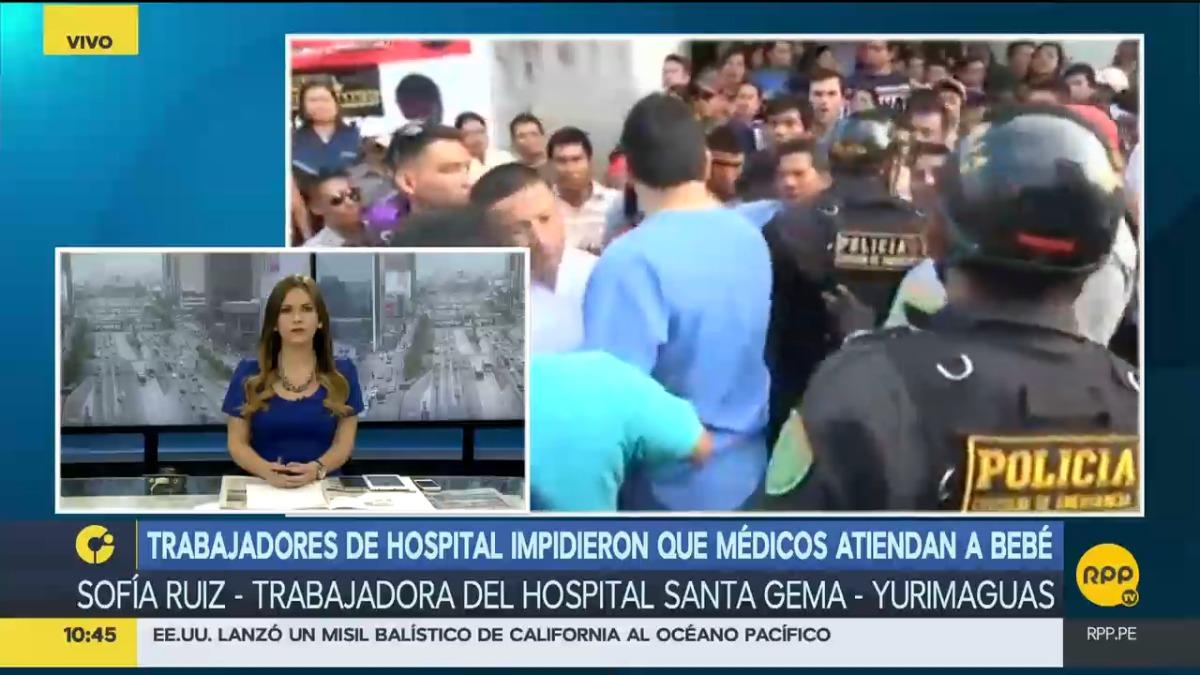 Trabajadora asistencial responsabilizó a médicos y director del Hospital Santa Gema por muerte de menor.