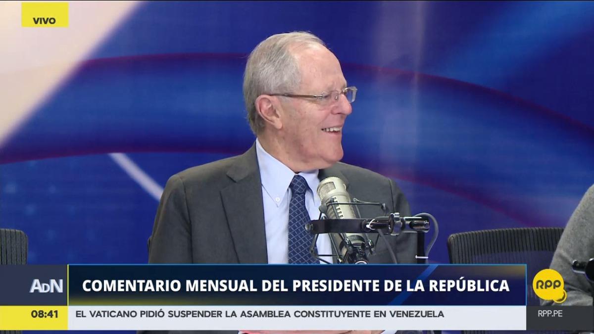 Pedro Pablo Kuczynski fue entrevistado por Aldo Mariátegui, Patricia del Río y Fernando Carvallo, en Ampliación de Noticias.