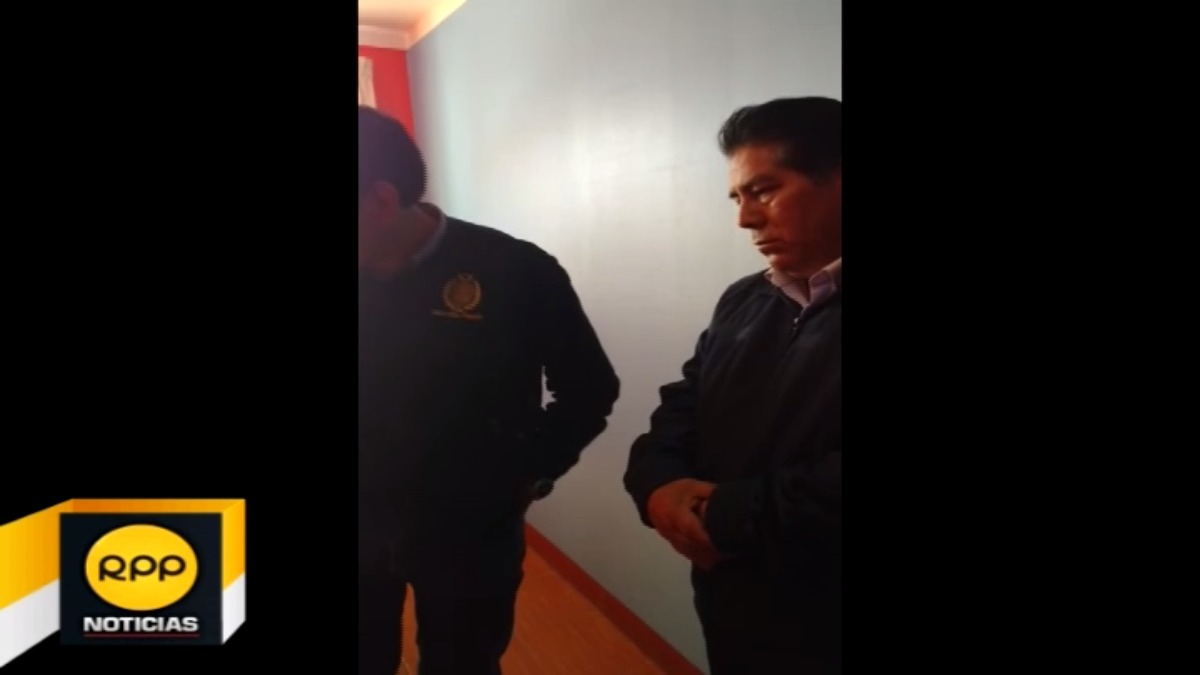 Profesor detenido en Ayacucho.