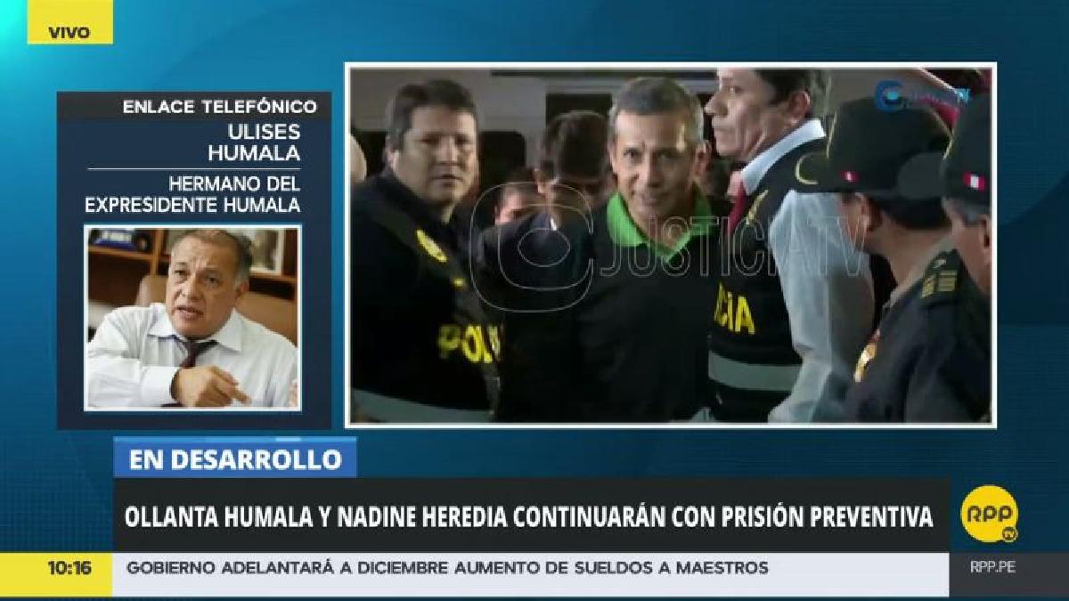 """Ulises Humala sostuvo que el Poder Judicial hay una suerte de """"doble rasero""""."""