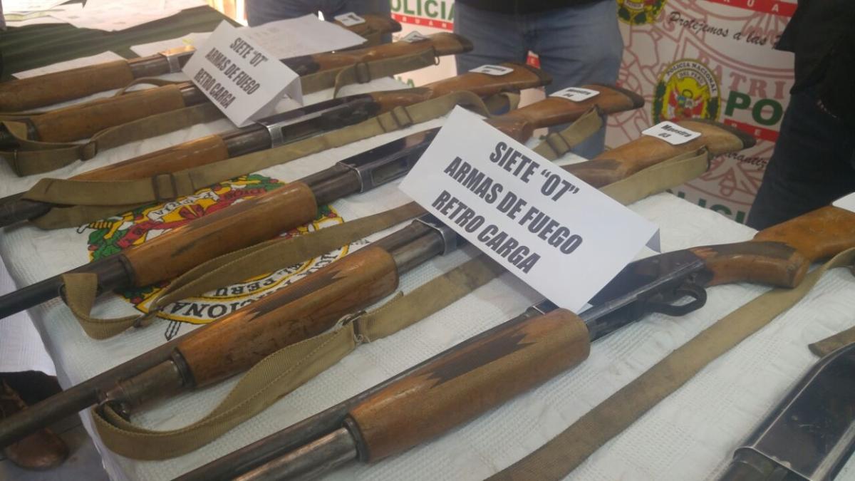 Se trata de armas entregadas en el año 1990 a comuneros que conformaban Rondas Campesinas.