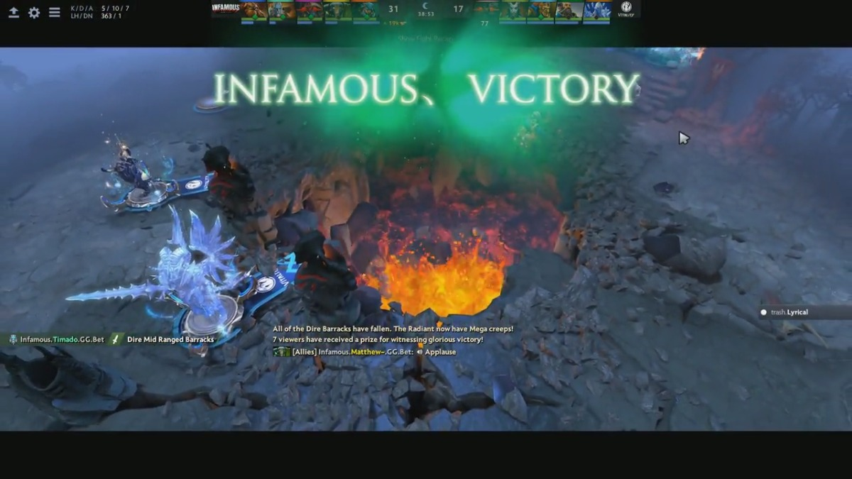 La primera partida entre Infamous contra IG Vitality.