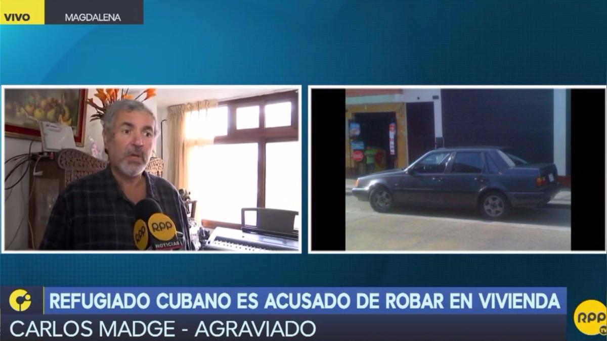 Un refugiado cubano fue acusado de robar dinero, pasaporte, un carro y aparatos electrónicos de la casa de un músico Carlos Madge.