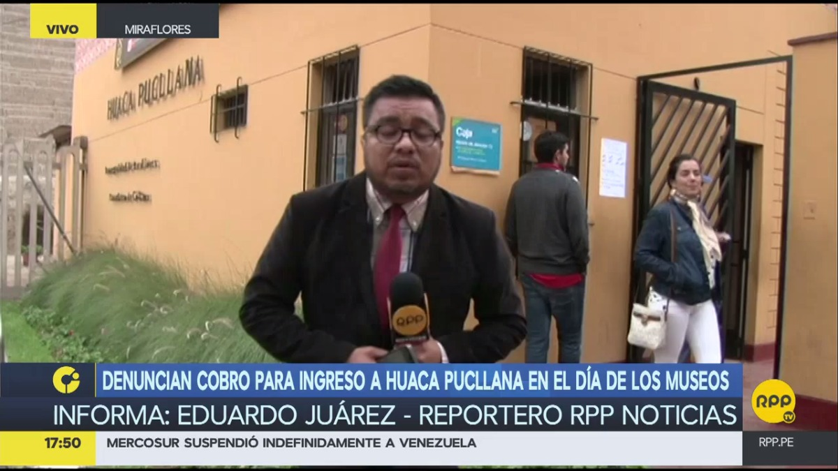 Denuncian cobro para ingreso a Huaca Pucllana.