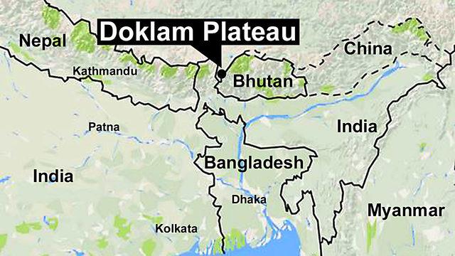 El área de Doklam es el origen de la disputa.