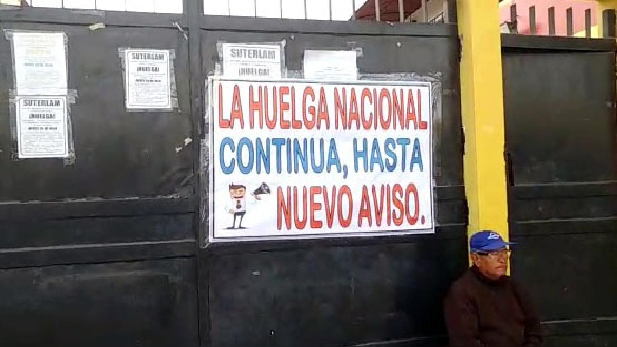 Profesores no regresaron a clases en Chiclayo.
