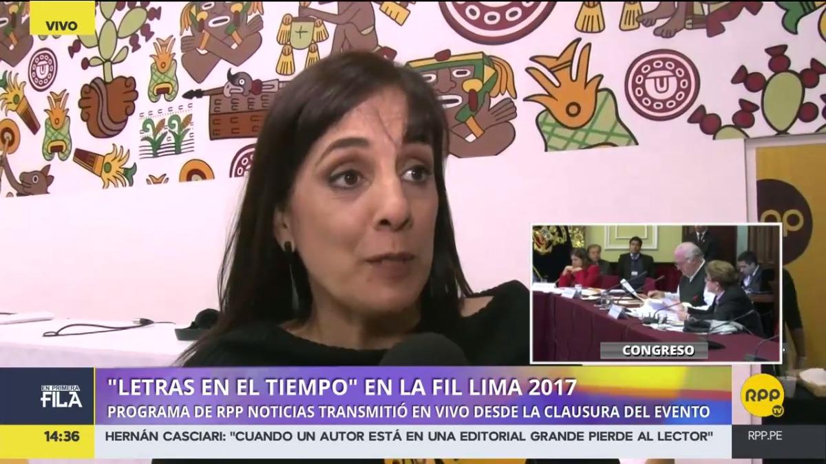 Letras en el Tiempo, programa de RPP Noticias, trasmitió su programa desde la FIL Lima 2017.
