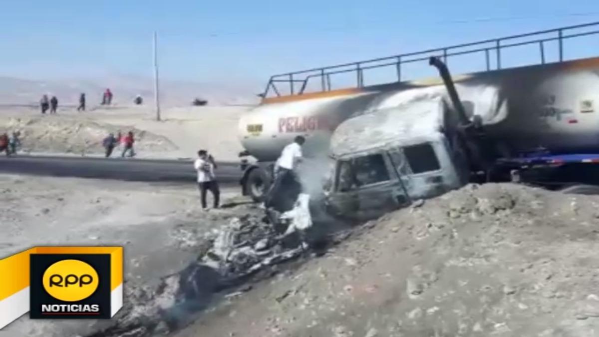 Los cuatro ocupantes del auto llevaron la peor parte en el lamentable accidente.