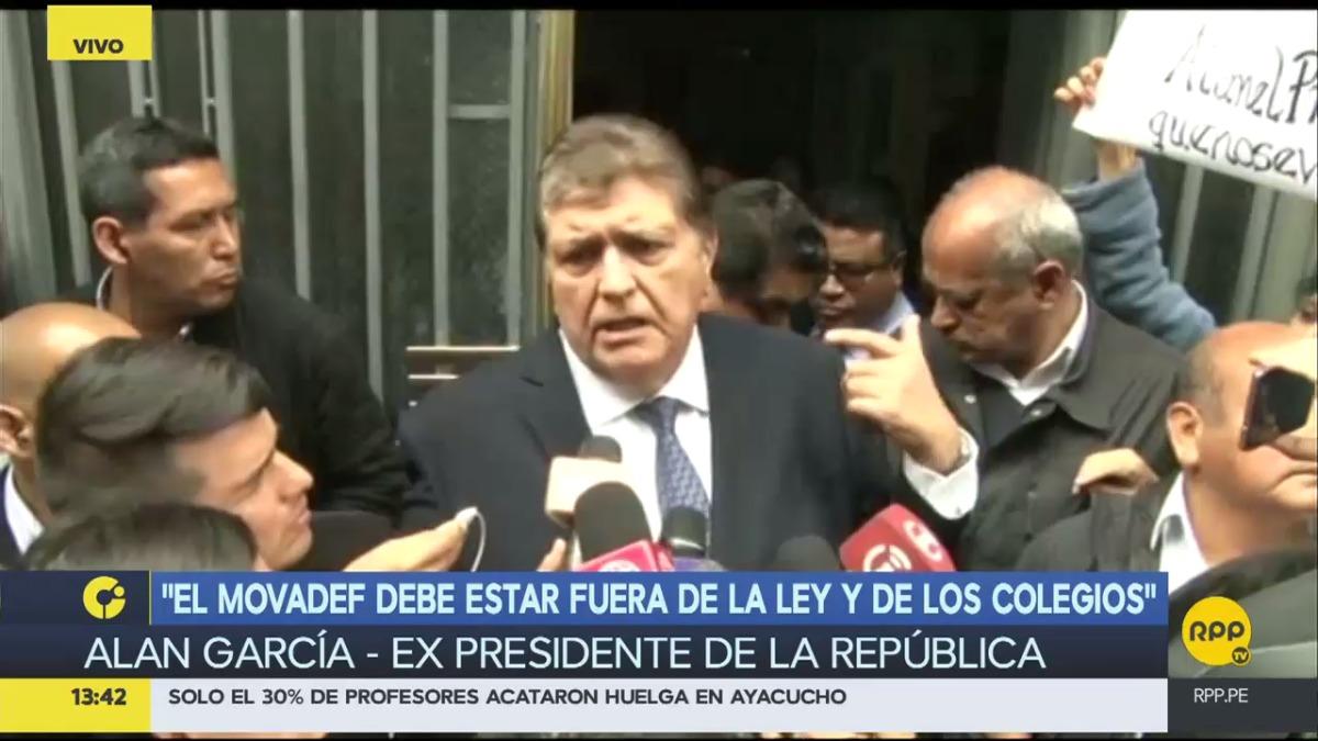 Alan García declaró como testigo en la investigación por la venta de terrenos en Collique.