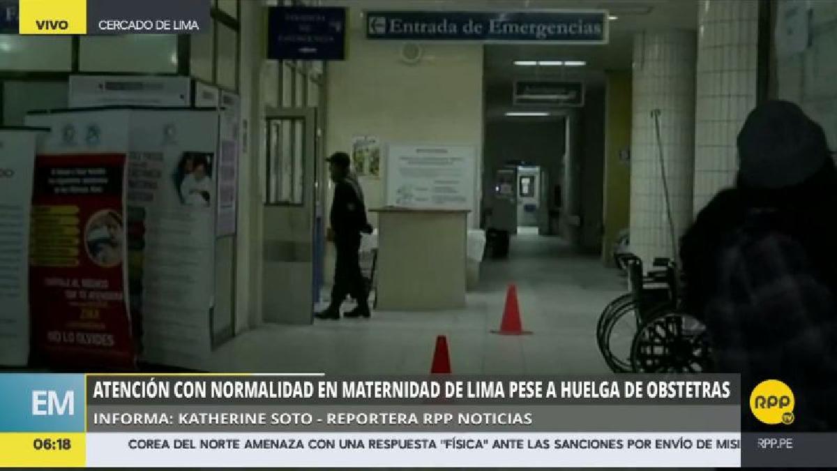Pacientes y familiares ingresan con normalidad al Área de Emergencias de la Maternidad de Lima.