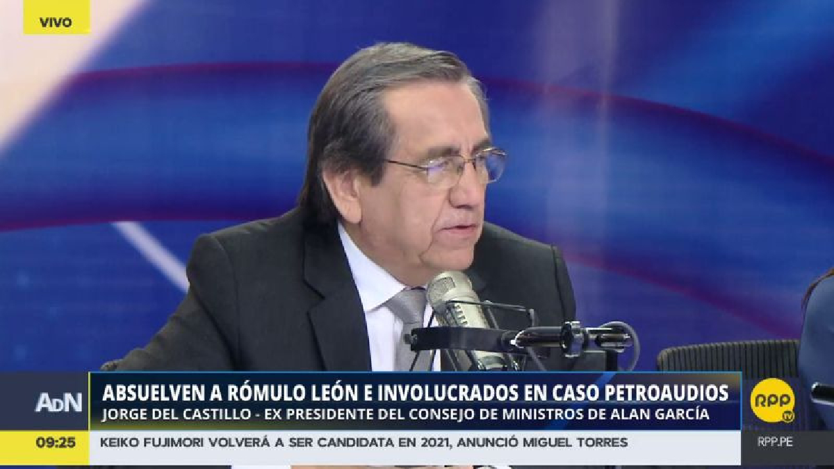 Jorge del Castillo dijo desconocer si Alan García estuvo detrás de la detención de Rómulo León, como afirmó el exministro aprista.