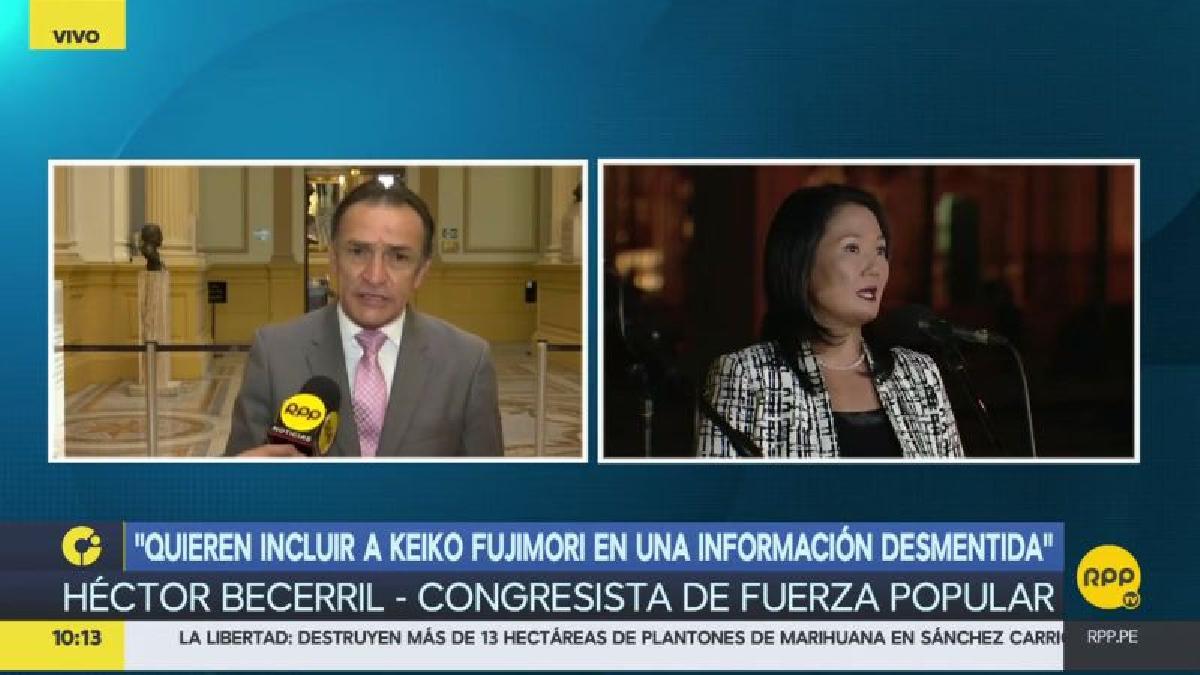 """Héctor Becerril calificó la noticia como """"un refrito levantado por los medios de comunicación""""."""