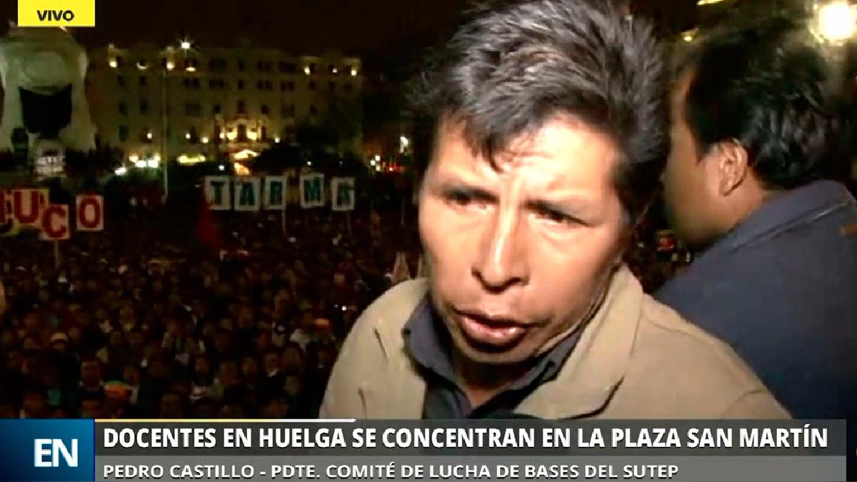 El dirigente Pedro Castillo afirma que hay un plan del Gobierno para detener a los dirigentes.