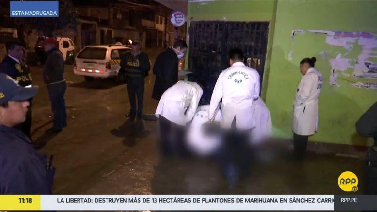 El cadáver estaba en la puerta de la cantina, ubicada en el cruce de las calles Santa Rosa y Arriba Perú.