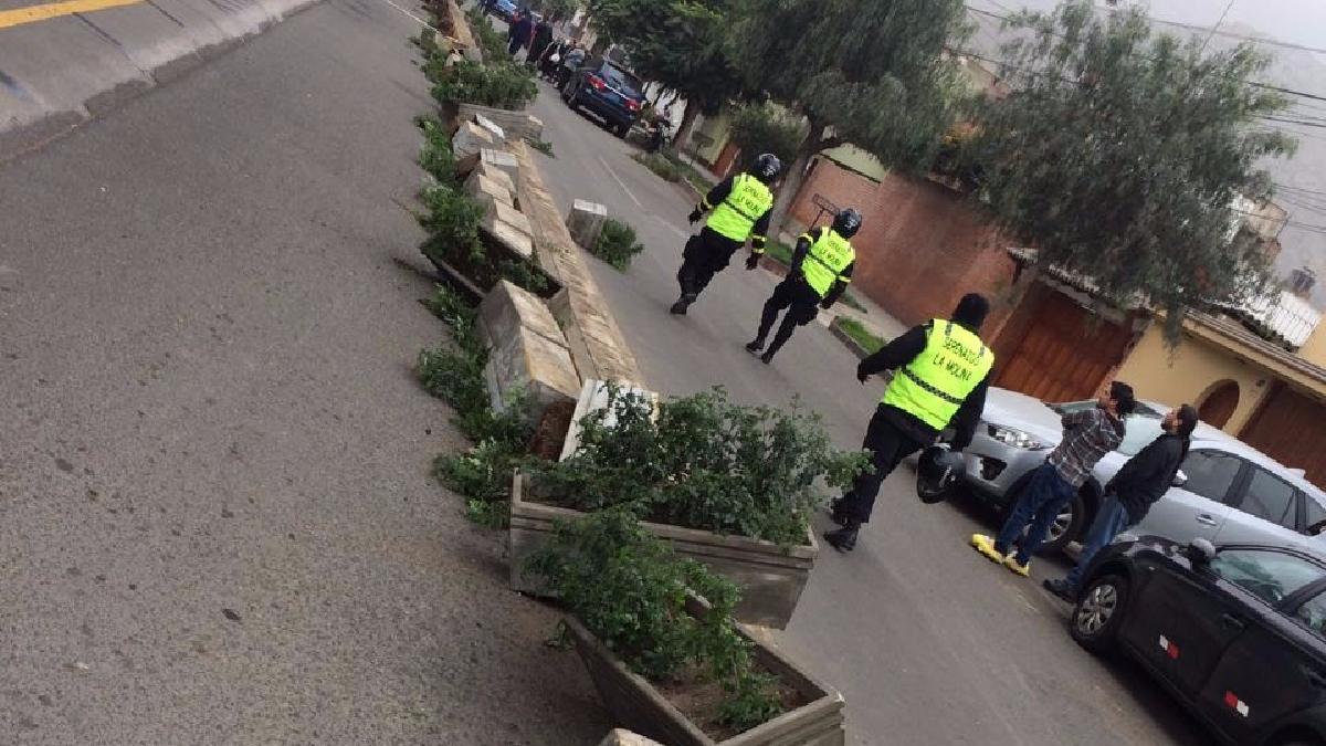 La Municipalidad de Ate argumenta que las macetas impiden cruzar la pista a los peatones.