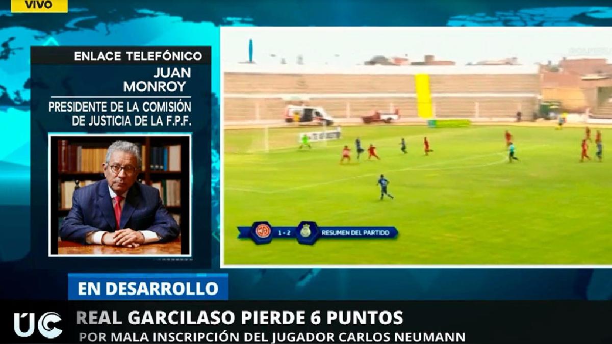 EL presidente de la CJ-FPF, Juan Monroy explicó el fallo contra el Real Garcilaso en RPP Noticias.