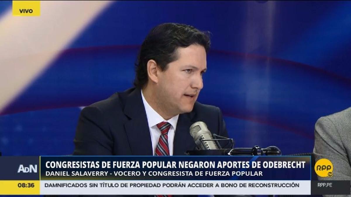 Salaverry comentó que en el caso de Fujimori no existe una declaración formal por parte de Odebrecht que la vincule con aportes.
