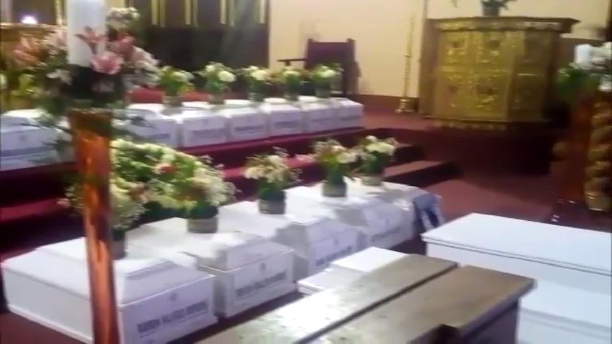 Homenaje en Catedral de Huancavelica.