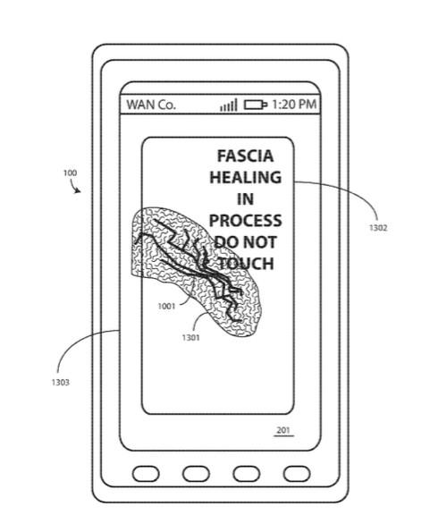 El boceto de esta nueva pantalla que ha patentado Motorola.