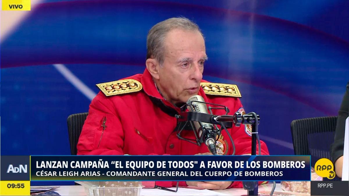 César Leigh Arias es comandante general de los Bomberos desde el año pasado.