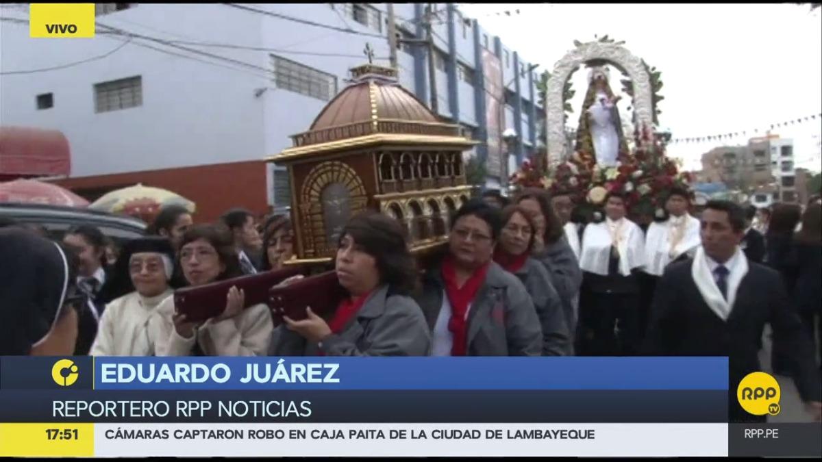 Así celebraron en el Callao a Santa Rosa de Lima.