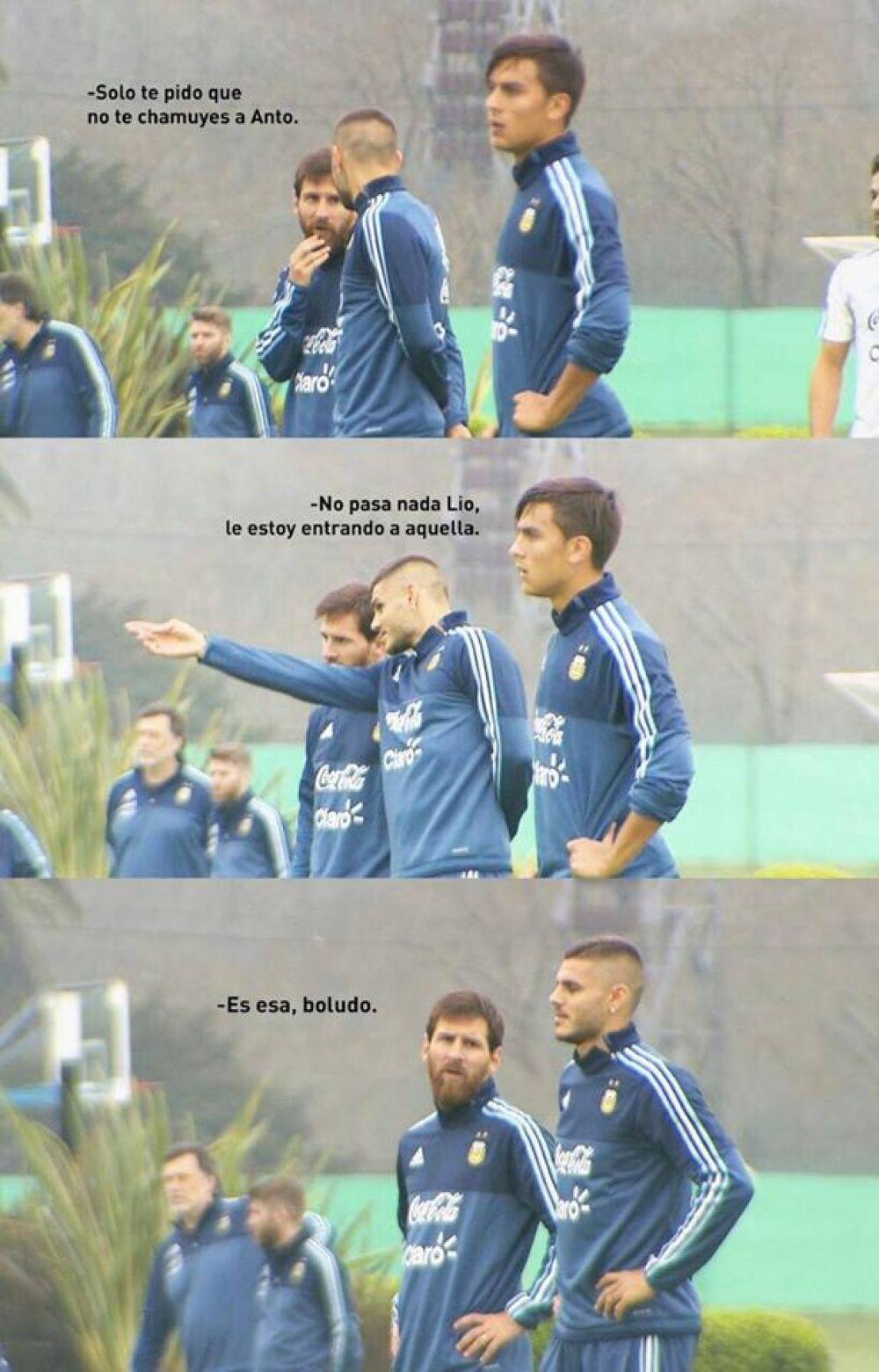 Lionel Messi y Mauro Icardi se vieron las caras en la Selección de Argentina.