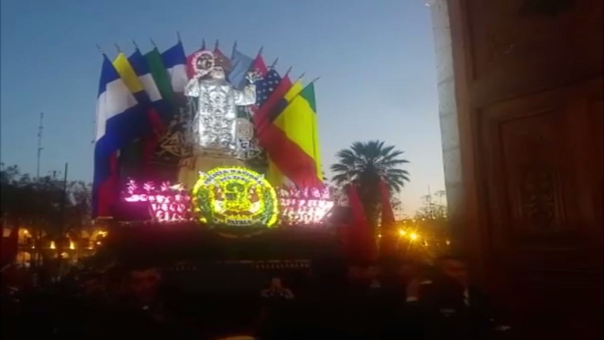 Homenaje a Santa Rosa de Lima.