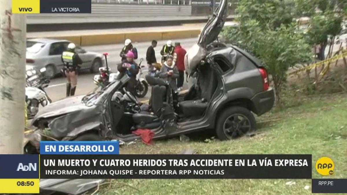 El accidente ocurrió a la altura de la avenida Javier Prado.