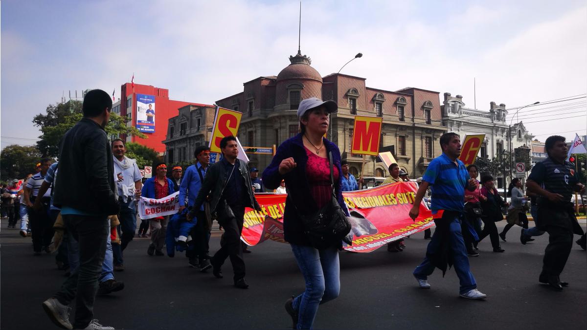 Este sábado, el dirigente de los maestros, Pedro Castillo, dijo que el cese de la huelga es momentáneo.