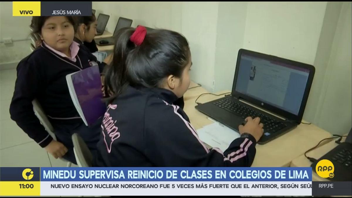 El Ministerio de Educación supervisó el reinicio de clases en todo el Perú.
