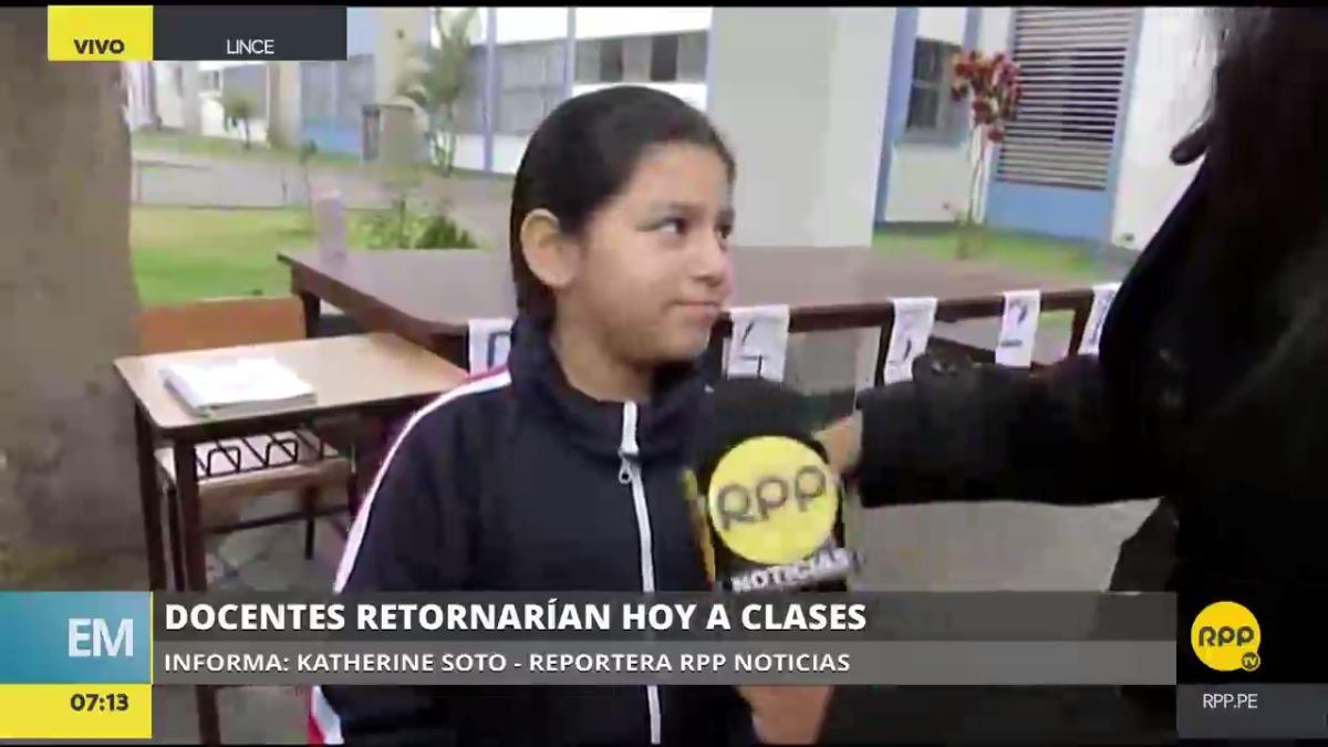 RPP Noticias verificó el reinicio de clases en el colegio Melitón Carvajal.