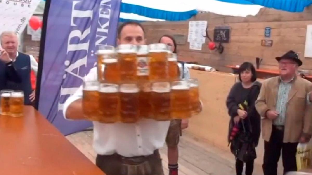 El tradicional chopp de cerveza en Alemania.