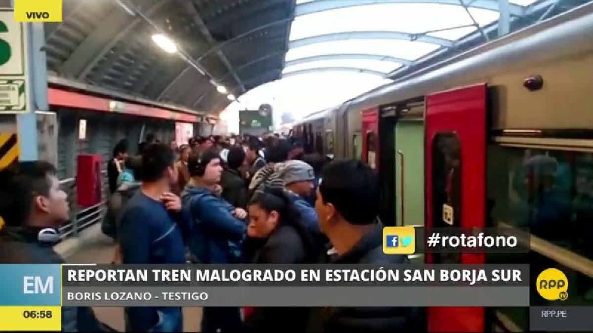 El tren se malogró cuando se dirigía desde Villa El Salvador hacia San Juan de Lurigancho.