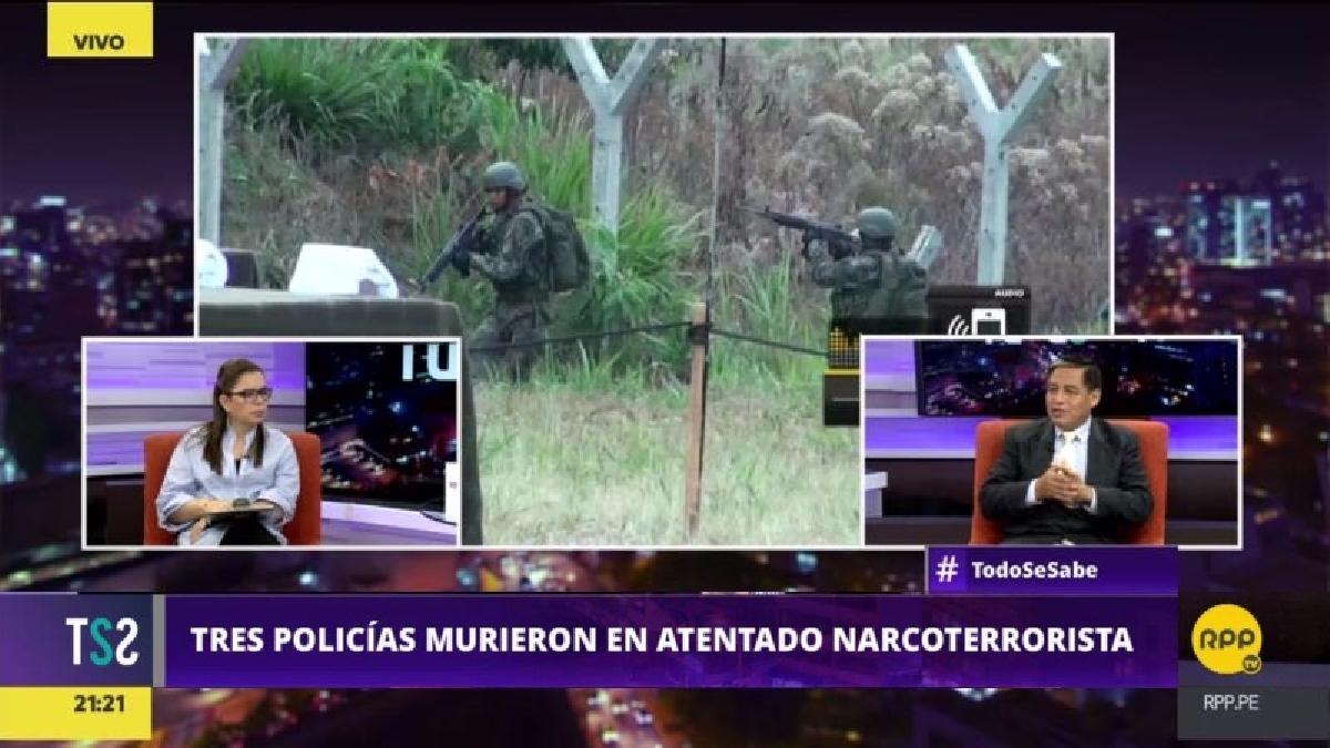 Yaranga dijo que el grupo de Policías que actúa en el Vraem es reducido y trabaja con armas antiguas.