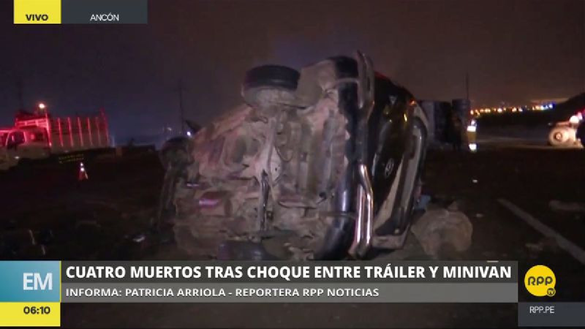 El chofer que causó el accidente estaba ebrio.