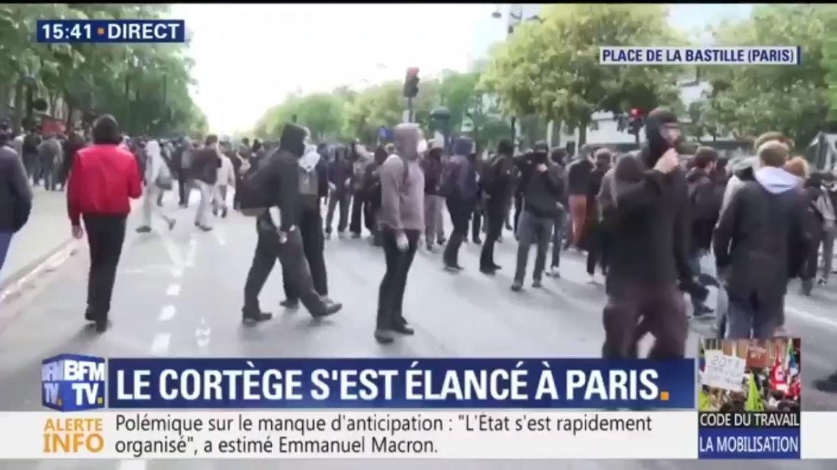 Las manifestaciones en París.