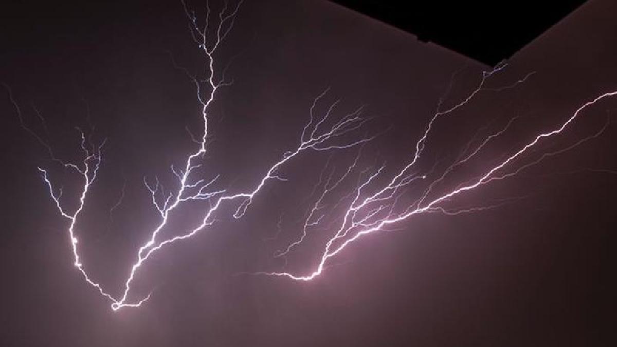 Así fue la tormenta eléctrica registrada el lunes en Bardovci.