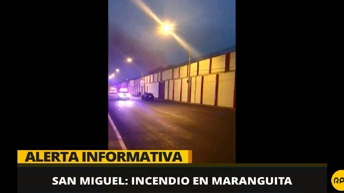 Una vista desde la avenida La Paz del incendio en 'Maranguita'