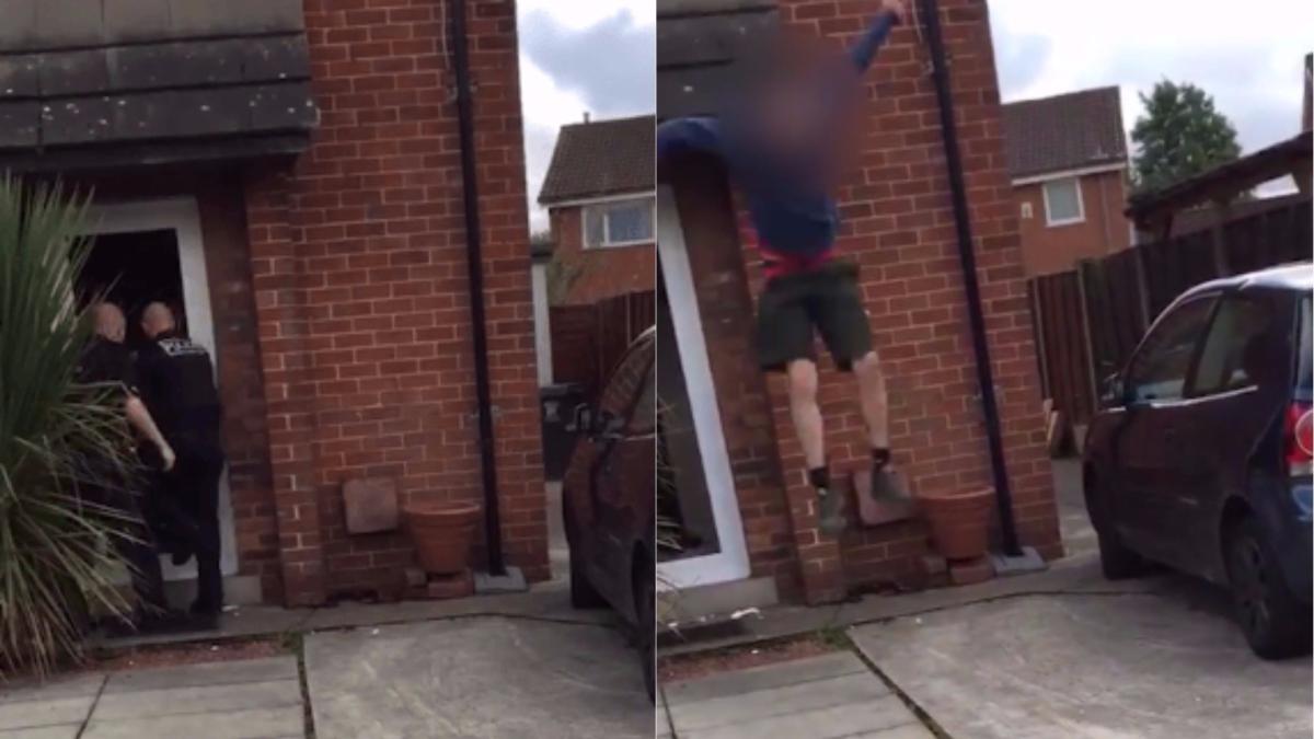 El video se convirtió en viral en Facebook que fue subido por un testigo del hecho.