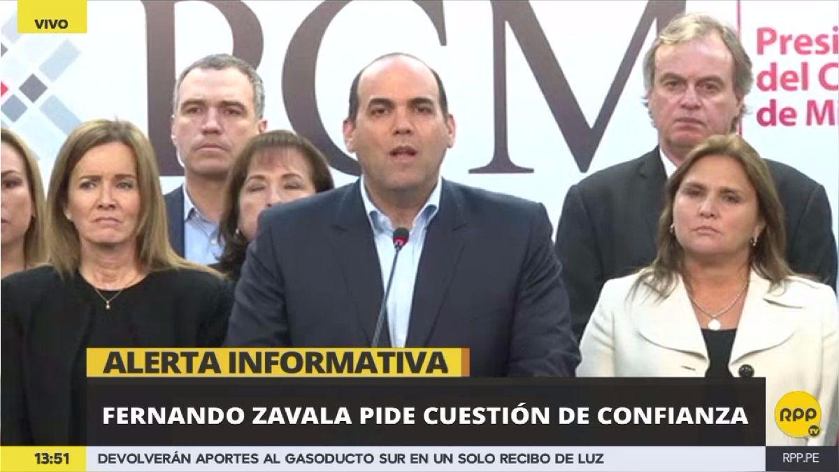 Así fue el anuncio de Fernando Zavala.