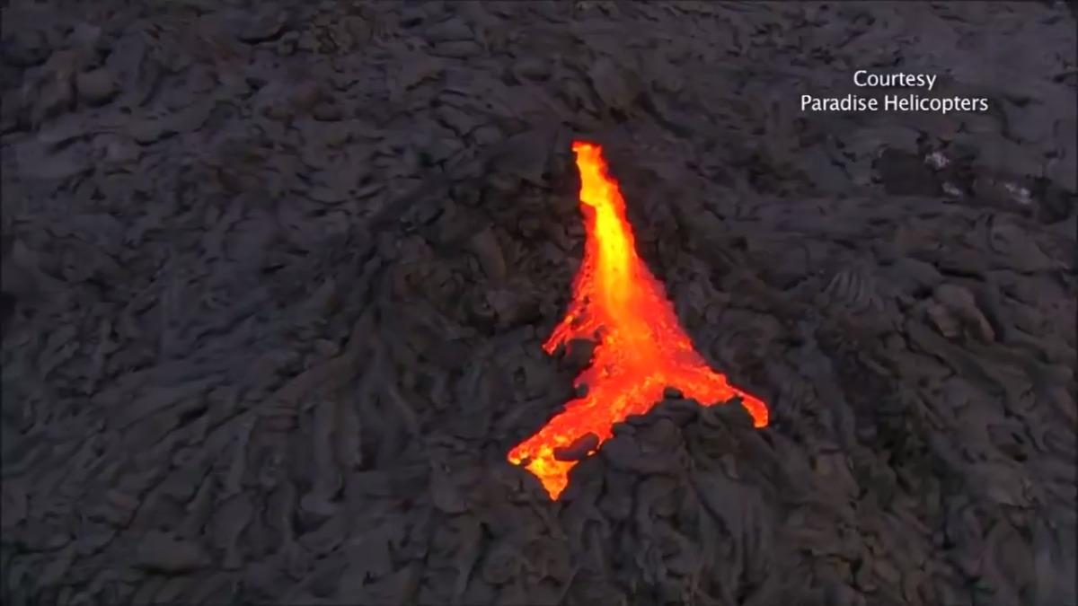 Kilauea es un volcán en escudo hiperactivo en Hawái.