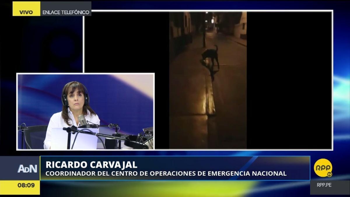 Ricardo Carvajal, coordinador del Centro de Operaciones de Emergencia Nacional (COEN), dijo que trabajan para identificar los daños por los sismos.