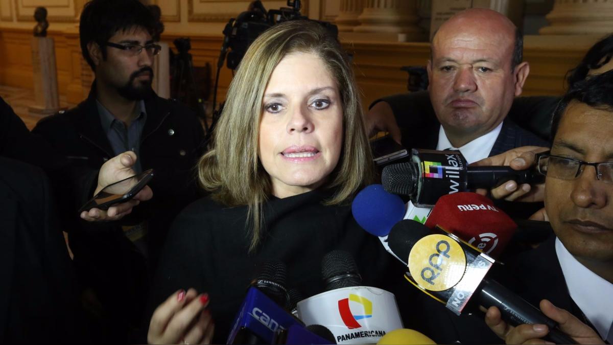 La congresista Mercedes Aráoz