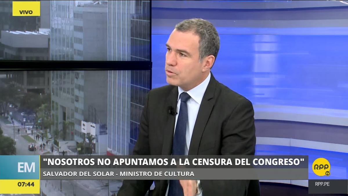 Salvador del Solar dijo que está dispuesto a seguir como ministro de Cultura.