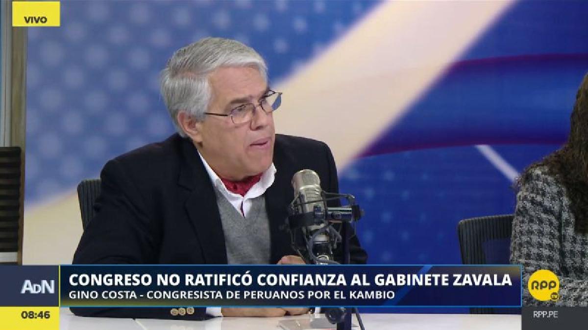 Gino Costa consideró que el fujimorismo tiene una actitud obstruccionista en el Congreso.