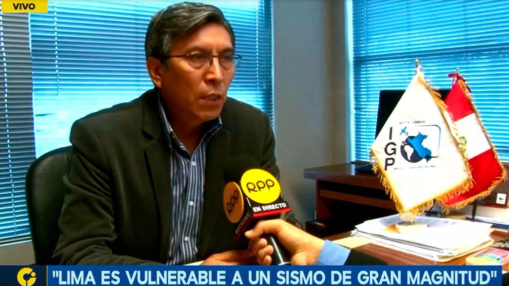 Hernando Tavera del IGP recordó que las zonas más vulnerables de Lima ante un eventual terremoto son los distritos del sur de la ciudad.