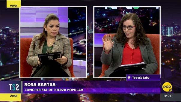 Rosa Bartra dijo que se debe de analizar bajo qué métodos o principios los ministros pueden quedarse en sus puestos.