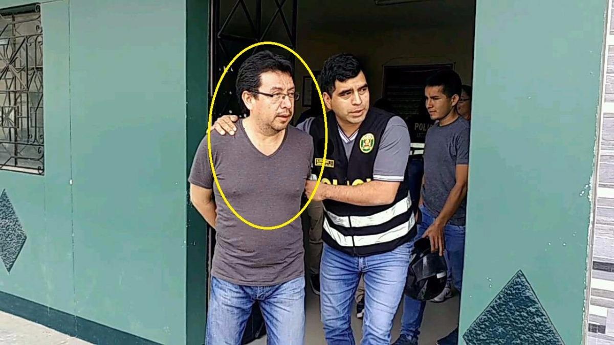 Exfuncionario fue detenido en el centro de Chiclayo.